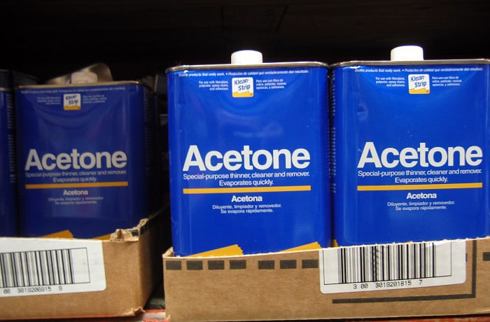 will acetone damage car paint