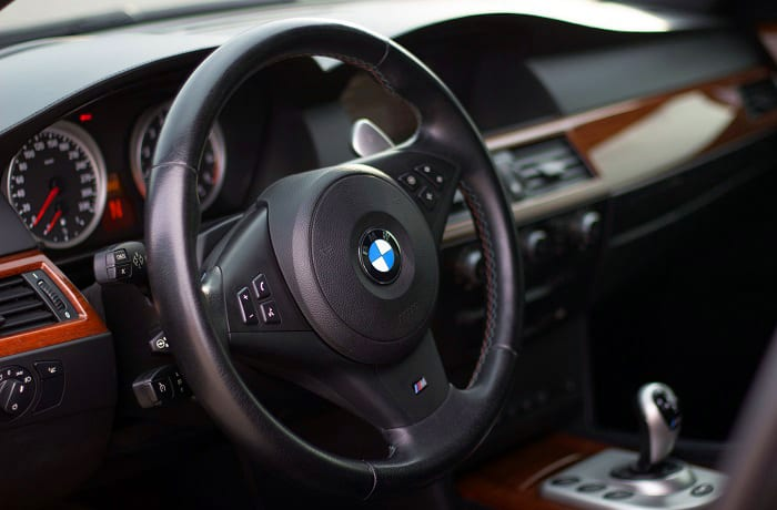 does bmw use real wood