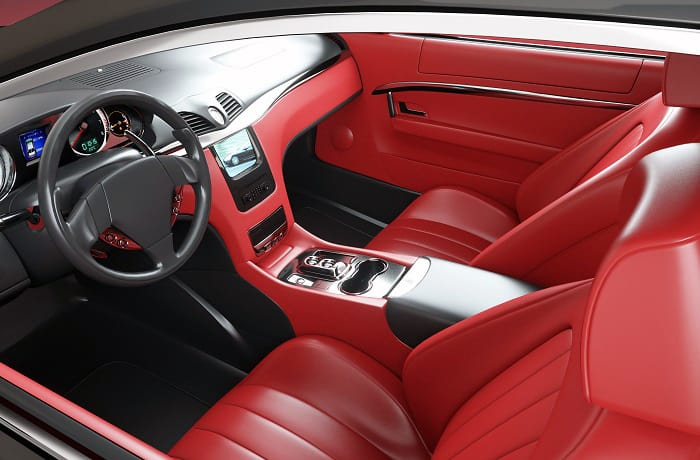is red leather car interior tacky