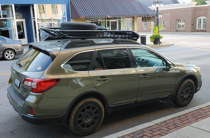 subaru outback roof rack problems