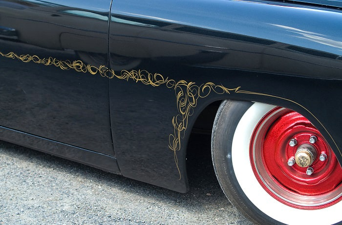 how to remove painted pinstripes from car