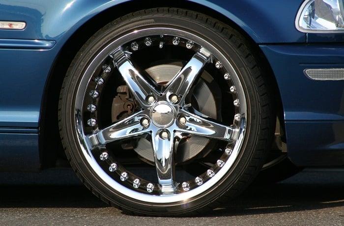can you sandblast chrome wheels